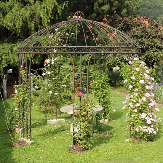 Gazebo para decoração de jardim