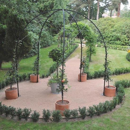 Gazebos de ferro para jardim