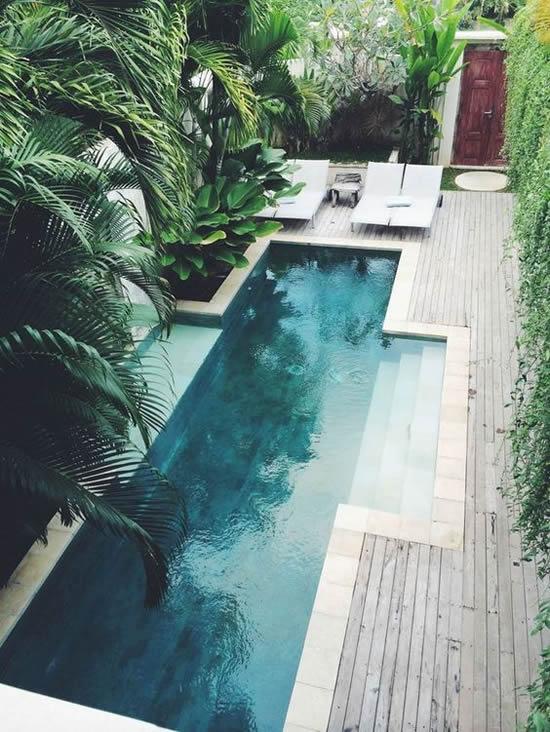 Lindos projetos com piscina e jardim