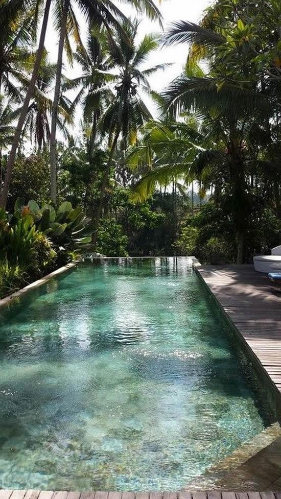 Lindos projetos de jardim com piscina