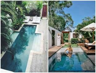 Projetos de jardim com piscina