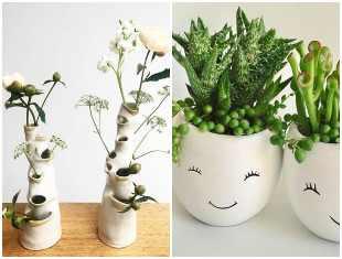 Vasos decorativos lindos e muito criativos