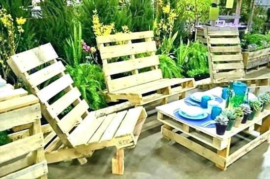Decoração com pallets para jardim