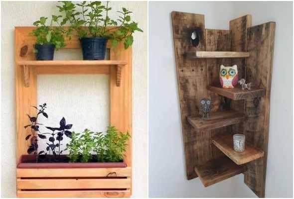 Decoração para jardim com madeira e pallets