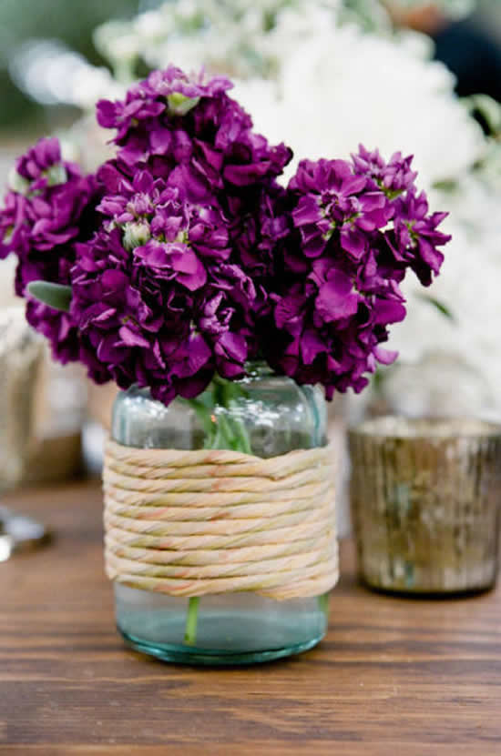Lindo vaso com pote de vidro