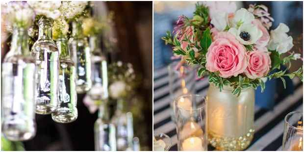 Vasos com reciclagem para decoração