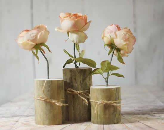 Lindos vasos de madeira