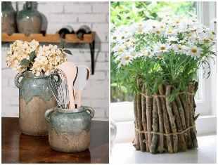 Vasos rústicos para decoração