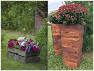 Como utilizar caixotes na decoração de jardim