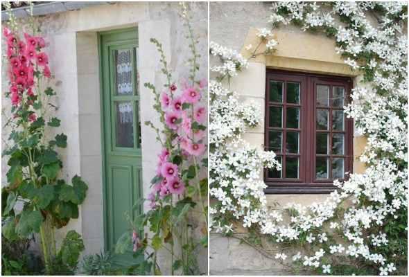 Decoração com flores para o quintal