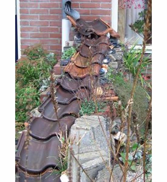 Ideias com telha para o jardim