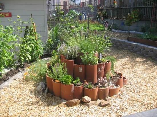 Canteiro lindo para jardim