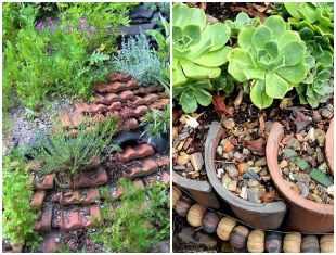 Ideias e dicas com telhas no jardim