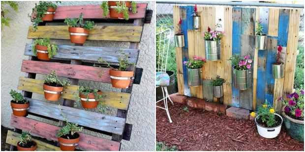 Ideias primorosas para plantar em pallets