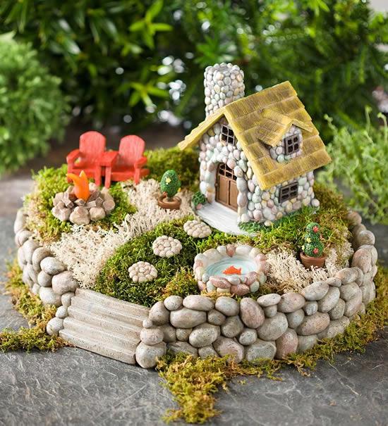 Dica para fazer mini jardim
