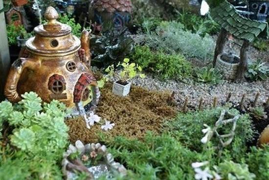 Mini jardim lindo e criativo