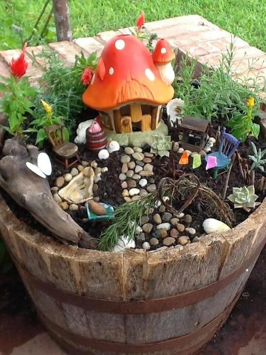 Ideias para mini jardim