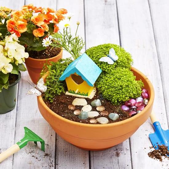 Ideias para fazer mini jardins