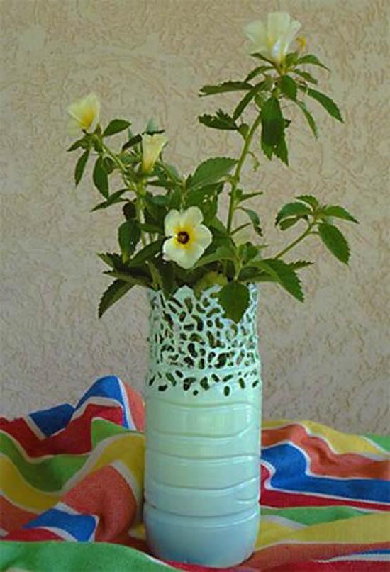 Vasos lindíssimos com reciclagem