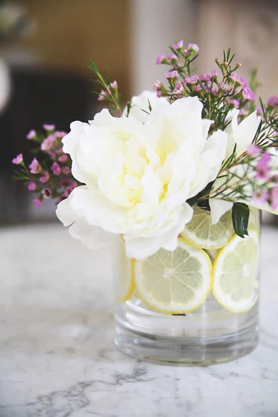 Arranjo floral para decoração