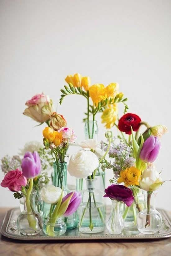 Arranjo de flores para decoração