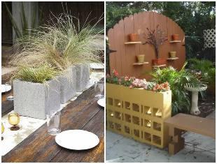 Dicas criativas com blocos de concreto