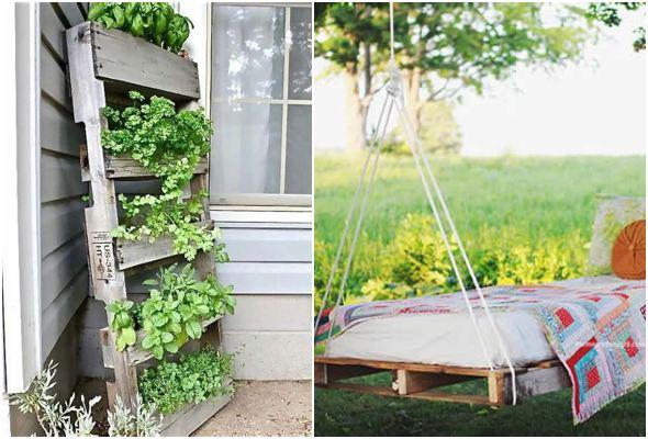 Ideias empolgantes com pallets para jardim
