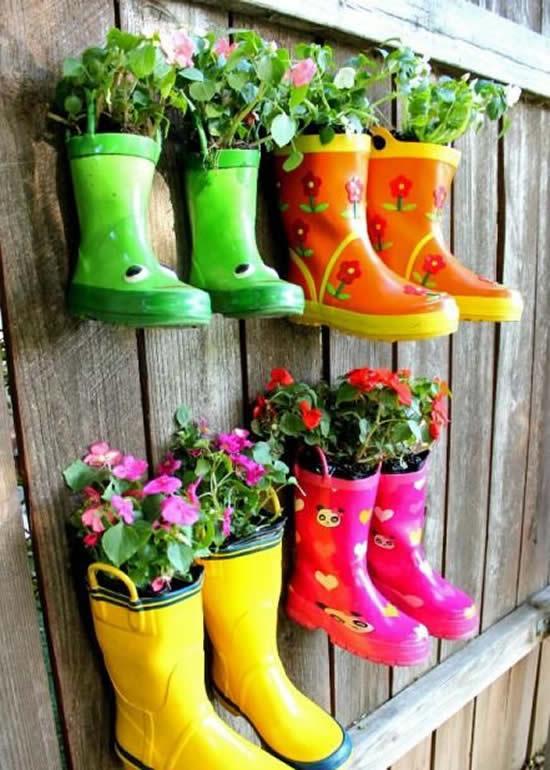 Decore o jardim plantando de forma diferente