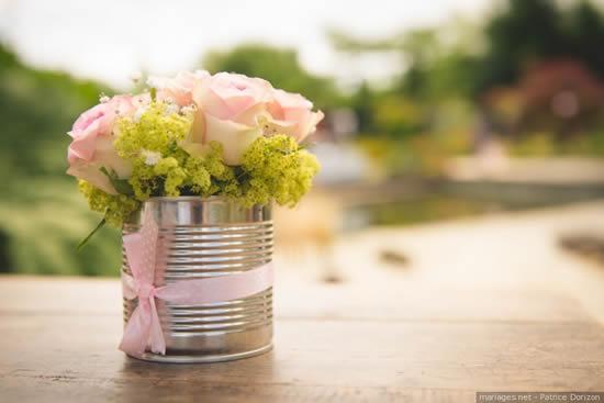 Vaso com arranjo de flor