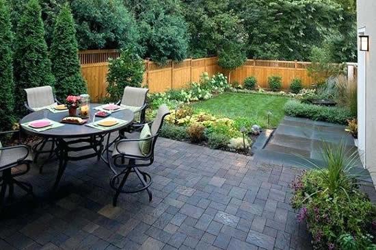 Projeto de área de convivência para jardim