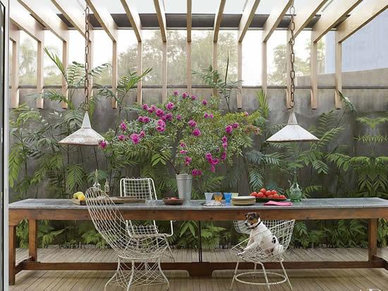 Projeto de área de lazer para jardim
