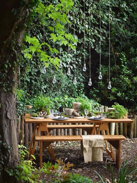 Área de convivência para jardim