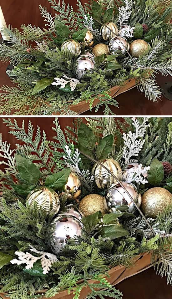 Decoração de Natal com arranjos