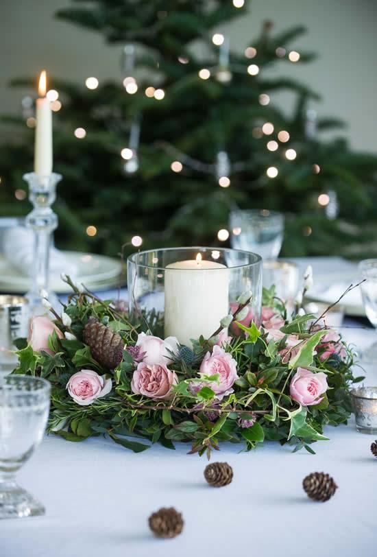 Arranjos de flores para decoração natalina