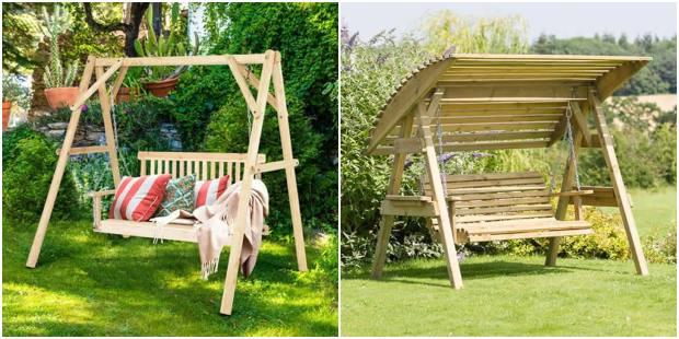 Cadeira de balanço suspensa para jardim