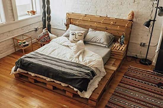 Inspiração para cama de pallets