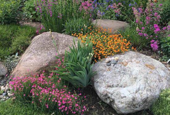Paisagismo com pedras para jardim
