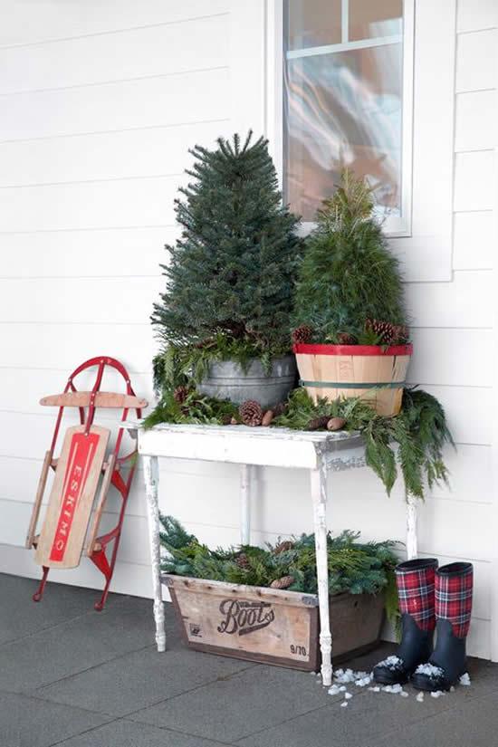 Enfeites lindos de Natal para jardim