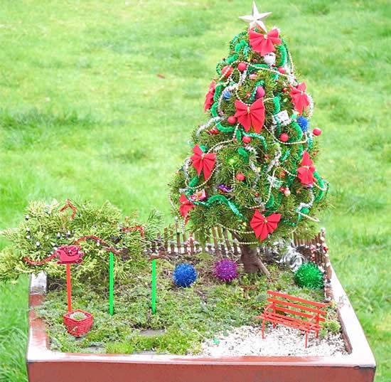 Linda decoração de Natal para jardim