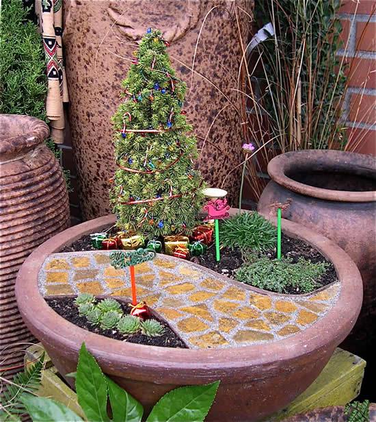 Decoração de jardim para o Natal