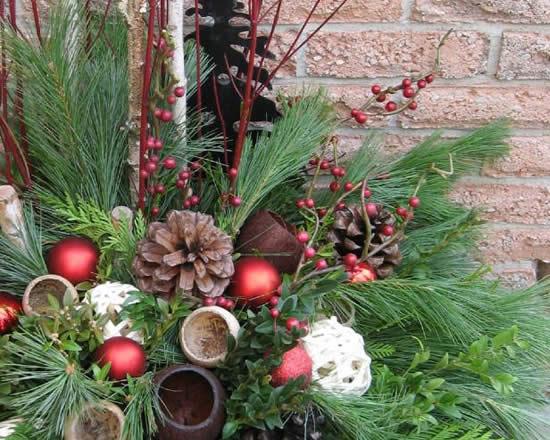 Decoração criativa de Natal para jardim