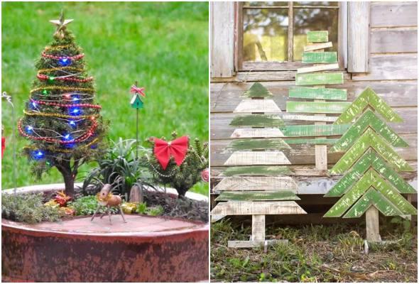 Como decorar o jardim no Natal
