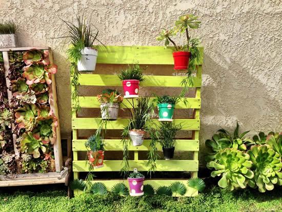 Enfeites para decoração de jardim com pallets