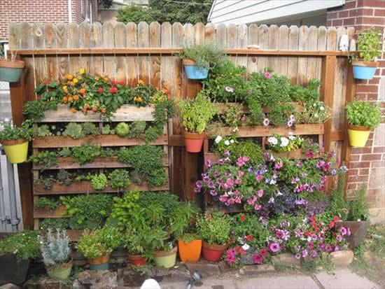 Decoração com pallets para o jardim