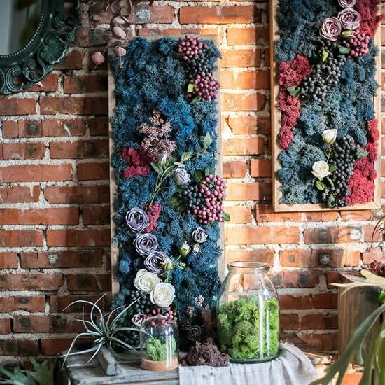 Ideias lindas para fazer parede decorada com plantas