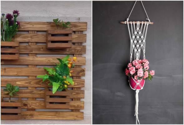 Lindos suportes para vasos para decoração