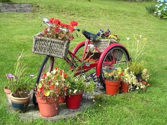 Decoração criativa para jardim