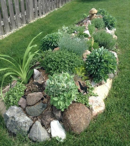 Use pedras na decoração do jardim