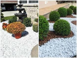 Como decorar jardim com pedra branca