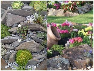 Pedras na decoração de jardins
